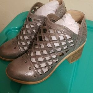 Stacey-Metallic Boots, 7.5